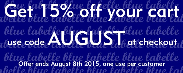 Blue Labelle Skincare 15% off sale with code AUGUST