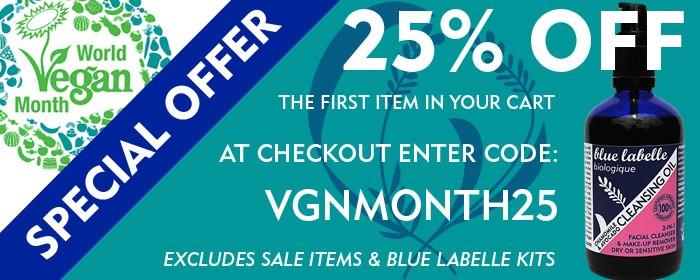 Blue Labelle World Vegan Month Offer