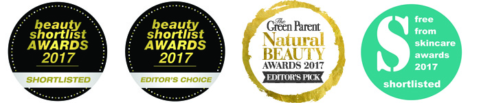 Green Parent Natural Beauty Awards, Beauty Shortlist, FreeFrom Skincare Awards