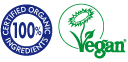 organic vegan stamp Blue Labelle