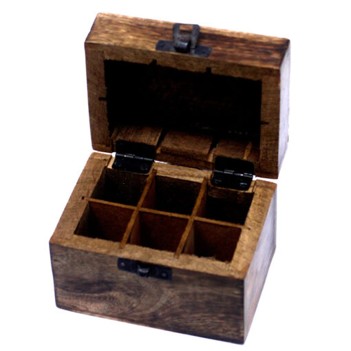 6 Hole Box for Essential Oils   Aromatherapy Oil Box