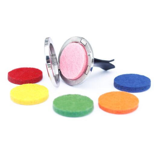 Car diffuser with felt discs