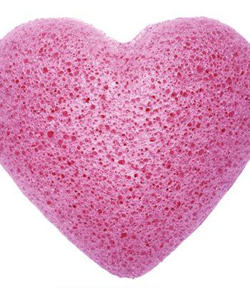 Konjac Facial Sponge - Lavender Heart