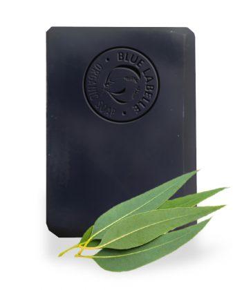 Charcoal Soap, Eucalyptus Soap, Blue Labelle