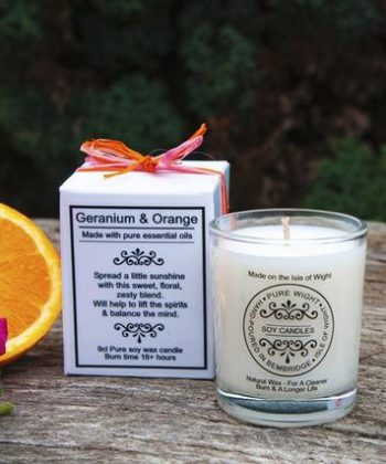 Geranium & Orange small candle