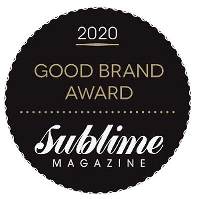 Sublime Magazine Good Brand Awards 2020 Natural Skin Care