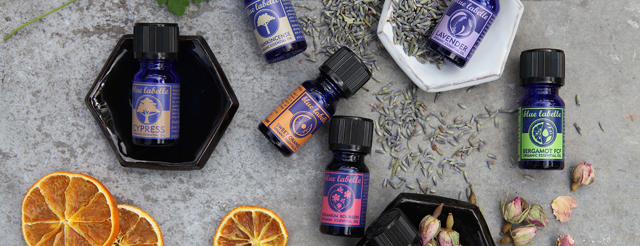 Organic Essential oils at Blue Labelle Isle of Wight
